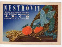 Oct17   79958    Buvard   Nestrovit Les Quatre Vitamines - Produits Pharmaceutiques