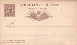 "CARTOLINA POSTALE TIPO UMBERTO I UPU FRANCOBOLLO SENZA VALORE E SENZA MILLESIMO- 1879 - CATALOGO FILAGRANO ""C5"" NUOVA ** - Entiers Postaux"
