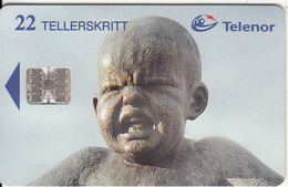 NORWAY - Vigeland Museum/Angry Small Boy(094), CN : C76010135, Tirage 20000, 04/97, Used - Norway