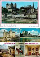 FRANCE 1995 2 PC OF SAUMUR Postmark RED CROSS UNUSED - Red Cross