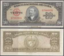 1958-BK-230 CUBA 20$ 1958. ANTONIO MACEO. UNC. MANCHAS DE IMPRENTA. - Cuba