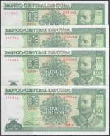 2016-BK-26 CUBA 5$ 2016 ANTONIO MACEO UNC 4 CONSECUTIVE. - Cuba