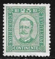 Portugal, Scott # 71 Perf 11 1/2 Mint Hinged King Carlos, 1892 - 1892-1898 : D.Carlos I
