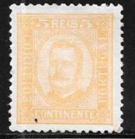 Portugal, Scott # 67 Perf 11 1/2 Mint Hinged King Carlos, 1892 - 1892-1898 : D.Carlos I