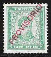 Portugal, Scott # 82 Mint Hinged King Luiz, Overprinted Provisorio, 1892 - 1892-1898 : D.Carlos I