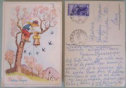 BUONA PASQUA 1956 - Ragazzo Sistema Campana - Frohe Ostern - Happy Easter - Bonnes Pâques Italy - Pasqua
