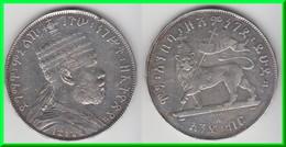 **** ETHIOPIA - ETHIOPIE - BIRR EE 1887 (1894) MENELIK II - ARGENT - SILVER **** EN ACHAT IMMEDIAT !!! - Ethiopia