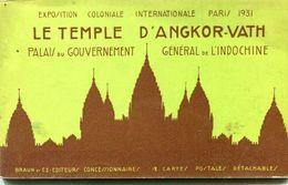 CAMBODGE(ANGKOR) EXPOSITION COLONIALE 1931 PARIS (CARNET DE 7 CARTES) INCOMPLETE - Kambodscha
