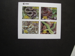 SACHALIN  MINT SHEET WWF REPTILES SNAKES - W.W.F.