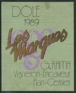 Rare // Etiquette // Dôle 1989, Les Marques, G.Rama, Plan-Cerisier Valais, Suisse - Etiquettes