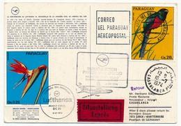 PARAGUAY - Carte Premier Vol Lufthansa DC10 - Ascuncion => Rio => Casablanca => Francfort 1974 - Paraguay