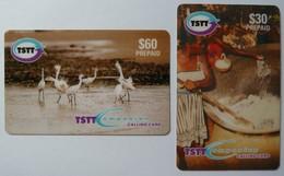 TRINIDAD & TOBAGO - 2 Remote Memory - Dancing Egrets & Festive Cook Up - Used - Trinidad & Tobago