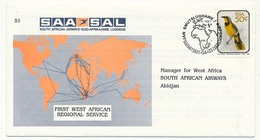 RSA - Enveloppe First West African Regional Service - 1991 - Poste Aérienne