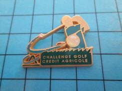 Pin713e Pin's Pins : BEAU ET RARE : SPORTS / GOLF CREDIT AGRICOLE CHALLENGE Par DECAT PARIS - Golf