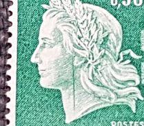 N° 1536A (Variété, Beau Trait Verticale De Couleur Vert)  Neuf **  TTB - Curiosities: 1960-69 Mint/hinged