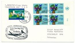 NATIONS UNIES VIENNE - Enveloppe Premier Vol SAS - VIENNE => STOCKHOLM 1980 - Sonstige