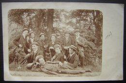 Carte Photo 1907 Dortoir IX (stube), Alsace ? Messieurs En Canotiers à Identifier ! (1) - Ecoles