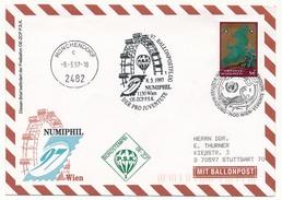NATIONS UNIES VIENNE - Enveloppe 97eme Ballonposteflug - NUMIPHIL 1997 - Sonstige