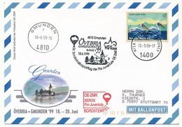 NATIONS UNIES VIENNE - Enveloppe 54eme Sondernballonposteflug - Övebria Gmunden 1999 - Sonstige