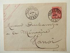 Entiers Postaux Et Carte D'Indochine - Indochine (1889-1945)