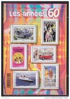 = Années 60 Bloc Neuf N°F4960 Le Paquebot France, La Mode, La Maison De La Radio, L'automobile, Le Cinéma, Les Loisirs - Mint/Hinged