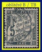TAXE N° 14 TYPE DUVAL 1881-92 -  OBLITÉRÉ TB (VOIR VERSO) - 1859-1955 Oblitérés