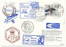 "SKRI LANKA - Affranchissement Oiseaux Sur CP - Circuit ""das Traumshiff Berlin"" 2001 - Nombreux Cachets - Sri Lanka (Ceylon) (1948-...)"