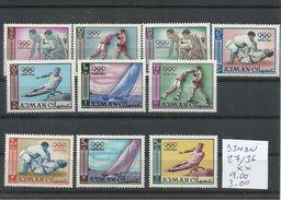 AJMAN YVERT 28/30  MNH  ** - Summer 1964: Tokyo