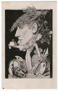 CPA     LES CELEBRITES EN CARICATURE    SARAH BERNARDT       PAR B. MOLOCH 1879    POUR LE TROMBINOSCOPE - Femmes Célèbres