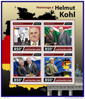 CENTRAL AFRICA 2017 ** Tribute To Helmut Kohl Nelson Mandela Mikhail Gorbachev M/S - OFFICIAL ISSUE - DH1740 - Famous People