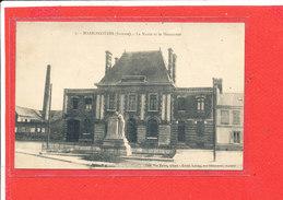 80 HARBONNIERES Cpa Mairie Et Monument   Edit Vve Talon - France