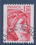 = Type Sabine De Gandon  1.30f  Rouge  De Roulette Oblitéré N°2063 - Coil Stamps