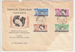 Zanzibar Agriculture FDC 1965 B171025 - Zanzibar (1963-1968)