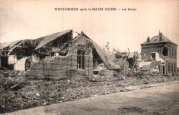 80 MONTDIDIER APRES LA GRANDE GUERRE LES ECOLES PAS CIRCULEE - Montdidier