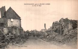 80 MONTDIDIER APRES LA GRANDE GUERRE LA RUE DE ROYE  PAS CIRCULEE - Montdidier