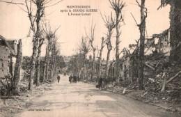80 MONTDIDIER APRES LA GRANDE GUERRE  L'AVENUE CARNOT  PAS CIRCULEE - Montdidier