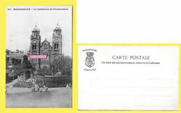 CPA MADAGASCAR Fianarantsoa La Cathédrale Animée ( Dos Simple Messagerie Maritimes ) - Madagascar