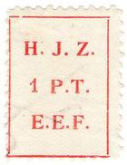 (I.B) Palestine Revenue : Hejaz Railway 1pt - Palestine