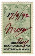 (I.B) British Bechuanaland Revenue : Duty Stamp 2/- - Bechuanaland (...-1966)