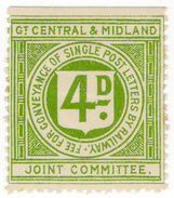 (I.B) Great Central & Midland Joint Committee Railway : Letter 4d - 1840-1901 (Victoria)