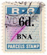 (I.B) Rhodesia Railways : Parcels Stamp 6d (Bindura) - Great Britain (former Colonies & Protectorates)