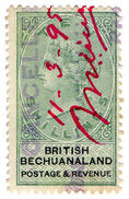 (I.B) British Bechuanaland Revenue : Duty Stamp 10/- - Bechuanaland (...-1966)