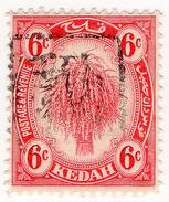 (I.B) Malaya States Revenue : Kedah Duty 6c (Japanese Occupation) - Grande-Bretagne (ex-colonies & Protectorats)
