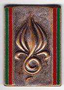 1° RE. 1° Régiment Etranger/ Musique Principale De La Légion Etrangère. Barres Vert Extérieur. AB.3161. Attache Enlevée. - Army