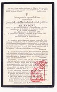 DP Student Universiteit 20j. Joseph Aimé M. Thienpont ° Meulebeke 1875 † Leuven 1896 - Imágenes Religiosas