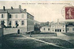 95 - Orsay : La Mairie Et Hospice Archangé - Autres Communes