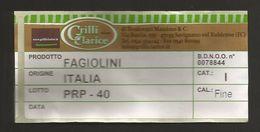 # FAGIOLINI GRILLI CLARICE Italy Tag Balise Etiqueta Anhänger Cartellino Beans Haricots Ejotes Bohnen Gemüse Legumes - Fruits & Vegetables