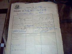 Elevage De Chien De Race   Ancien Titre De Pedigree Du Chenil De Gentilly Loulou De Pomeranie Annee 1929 - Vieux Papiers