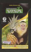# PINEAPPLE VISA Size 7 - Fruit Tag Balise Etiqueta Anhanger Ananas Pina Monkey Ape Singe Mono Affe Costa Rica - Fruits & Vegetables