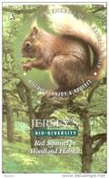 JER-172 TARJETA DE JERSEY SQUIRELL   (57JERB)   ARDILLA - [ 7] Jersey Y Guernsey